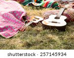 empty campsite at music... | Shutterstock . vector #257145934
