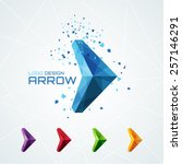 abstract triangular arrow logo... | Shutterstock .eps vector #257146291