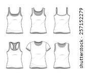 women's clothing set. blank...   Shutterstock .eps vector #257152279