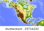 north america and central... | Shutterstock .eps vector #25716232