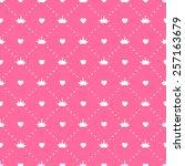 princess seamless pattern... | Shutterstock .eps vector #257163679