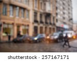 background blur city streets...   Shutterstock . vector #257167171