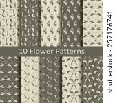 set of ten flower patterns | Shutterstock .eps vector #257176741