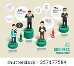 business board game concept... | Shutterstock .eps vector #257177584