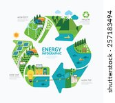 infographic energy template... | Shutterstock .eps vector #257183494