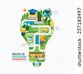 infographic education light... | Shutterstock .eps vector #257183497