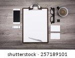 letterhead or menu design....   Shutterstock . vector #257189101