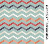 vintage geometric colorful... | Shutterstock .eps vector #257189245
