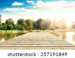 Empty Pier Of Summer