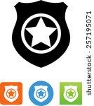 star on shield icon | Shutterstock .eps vector #257195071