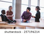 team young professionals having ... | Shutterstock . vector #257196214