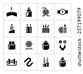 set icons of cables and wires...   Shutterstock .eps vector #257199079