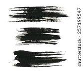 grunge paint black ink brush... | Shutterstock .eps vector #257199547