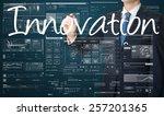 businessman writing innovation... | Shutterstock . vector #257201365
