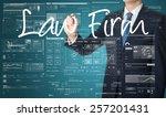 businessman writing technology... | Shutterstock . vector #257201431