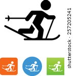 cross country skier icon | Shutterstock .eps vector #257205241