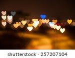 Heart Shape Qustom Bokeh. City...