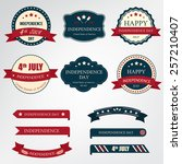 set of independence day label... | Shutterstock .eps vector #257210407