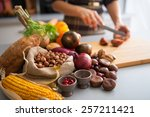 closeup on vegetables and young ... | Shutterstock . vector #257211421