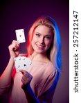 beautiful caucasian woman with... | Shutterstock . vector #257212147