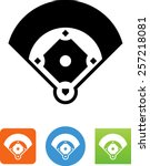 baseball field icon | Shutterstock .eps vector #257218081