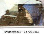 sad teenager boy worried inside ... | Shutterstock . vector #257218561