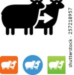 cloned sheep icon | Shutterstock .eps vector #257218957