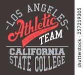 los angeles athletic team t...   Shutterstock .eps vector #257219305