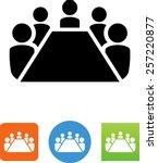 board room members sitting... | Shutterstock .eps vector #257220877