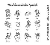 set of hand drawn astrological... | Shutterstock .eps vector #257221285