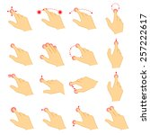 set of gestures icons for touch ... | Shutterstock .eps vector #257222617