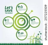 ecology concept. save world... | Shutterstock .eps vector #257225509