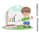 schoolboy school education...   Shutterstock .eps vector #257226841