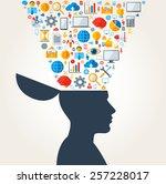 creative concept of development.... | Shutterstock .eps vector #257228017