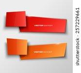 origami paper infographic... | Shutterstock .eps vector #257229661