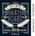 skateboard graphic design for t ... | Shutterstock .eps vector #257230249