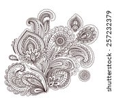 beautiful indian paisley... | Shutterstock .eps vector #257232379