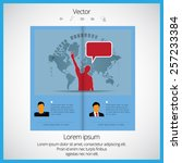 layout magazine  vector  | Shutterstock .eps vector #257233384