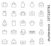 bag line icons set.vector | Shutterstock .eps vector #257235781