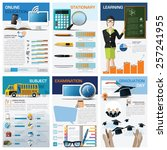 education and learning chart... | Shutterstock .eps vector #257241955