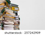 piles of file binder with... | Shutterstock . vector #257242909
