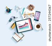 workplace concept. flat design.   Shutterstock .eps vector #257244367