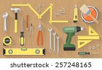 carpentry and home renovation... | Shutterstock .eps vector #257248165