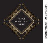 vector frame. geometric line... | Shutterstock .eps vector #257248984