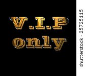 gold vip reservation sign on... | Shutterstock . vector #25725115