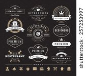 retro vintage insignias or... | Shutterstock .eps vector #257253997
