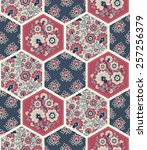 seamless pattern. patchwork. | Shutterstock .eps vector #257256379