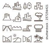 terrain  locality linear icon... | Shutterstock .eps vector #257256421