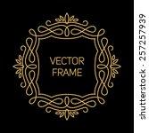vector geometric frame in mono... | Shutterstock .eps vector #257257939