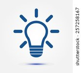 light lamp sign icon. idea... | Shutterstock .eps vector #257258167
